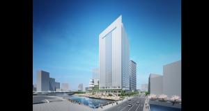 横浜市新市庁舎移転新築工事の起工式が執り行われ、工事が着工